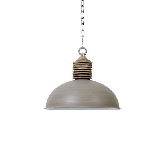 Hanglamp AVERY - Beton/Wit Kop Hout - XL