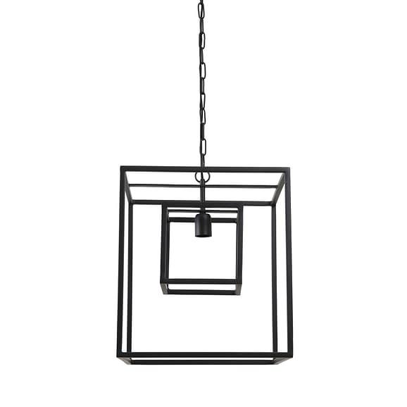 Hanglamp Kyvos - Mat Zwart - 40 x 40 x 44 cm