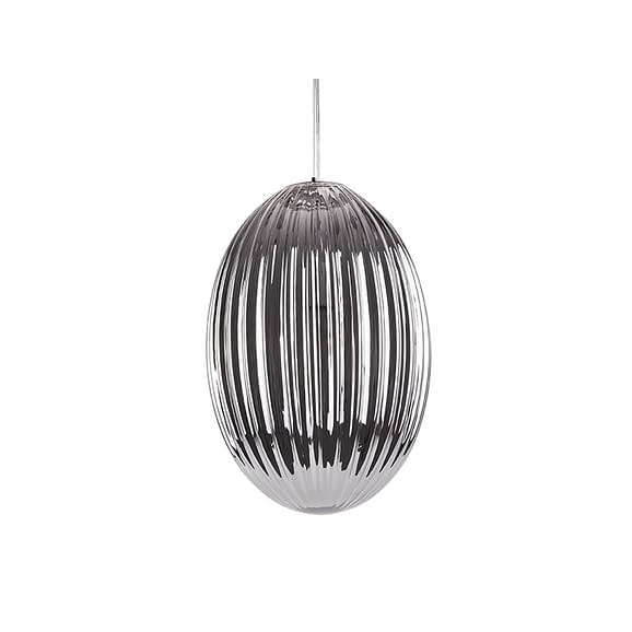Grijs Hanglamp Smart - Ovaal Glas Smokey Grijs - Large - 30x44cm