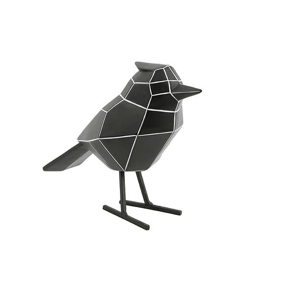 Zwart Ornament Bird - Polyresin Zwart