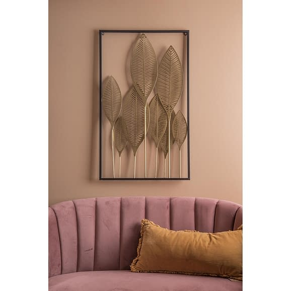 - Wall art Leaves iron gold