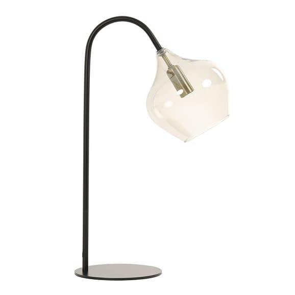 Tafellamp Rakel - Mat Zwart/Smoke - 28 x 17 x 50