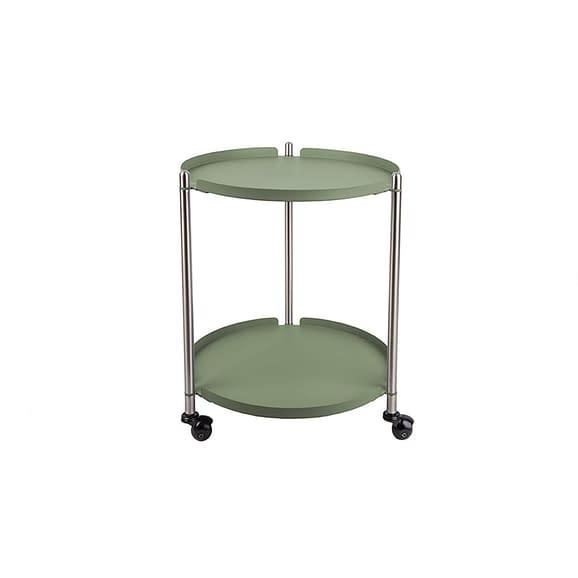 Groen Side table Thrill - Staal Nikkel