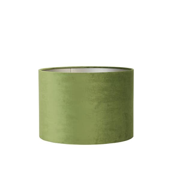Lampenkap cilinder VELOURS - 40-40-30cm - olive green