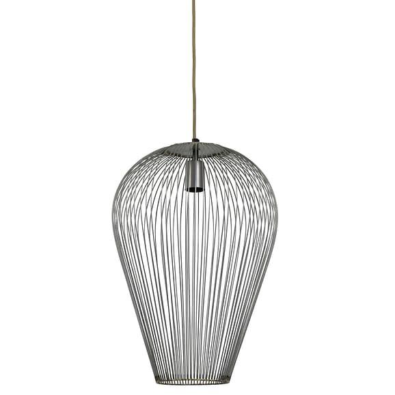 Hanglamp Ø37x50 cm ABBY antiek zilver