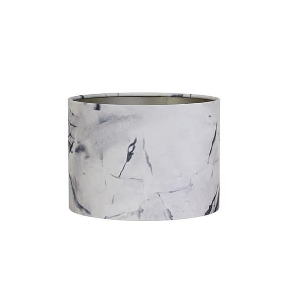 Kap cilinder 40-40-30 cm MARBLE grijs