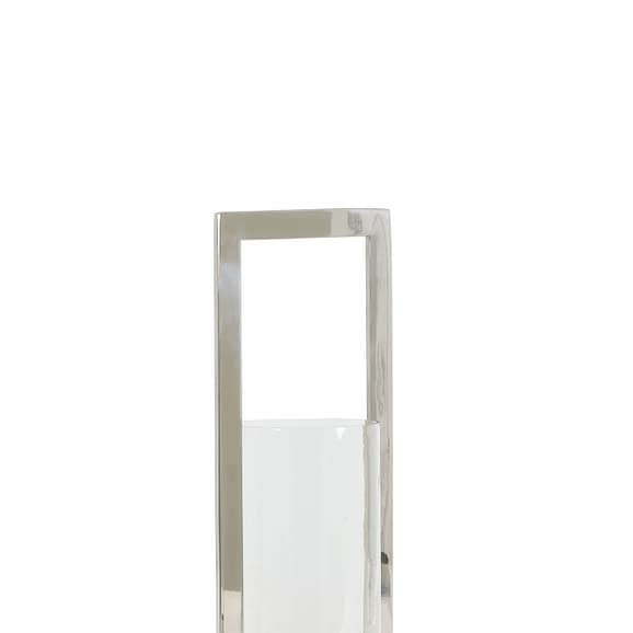 Light & Living Windlicht Jelco - Nikkel/Glas - 15x15x41 cm