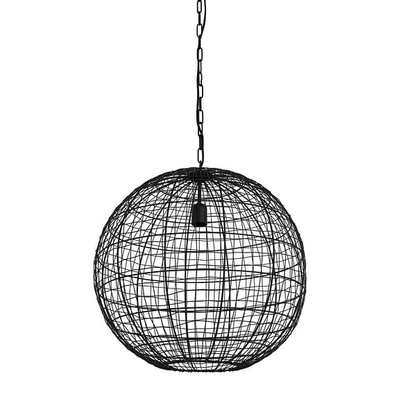 Hanglamp Mirana - Mat Zwart - Ø55 x 55 cm