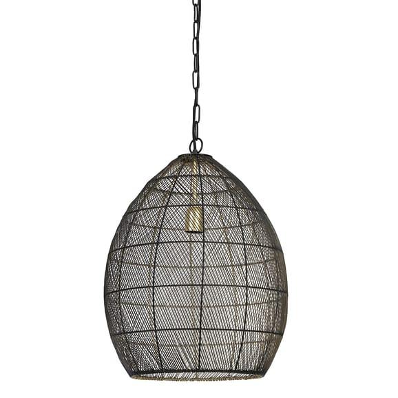 Hanglamp Ø40x53 cm MEYA zwart-goud