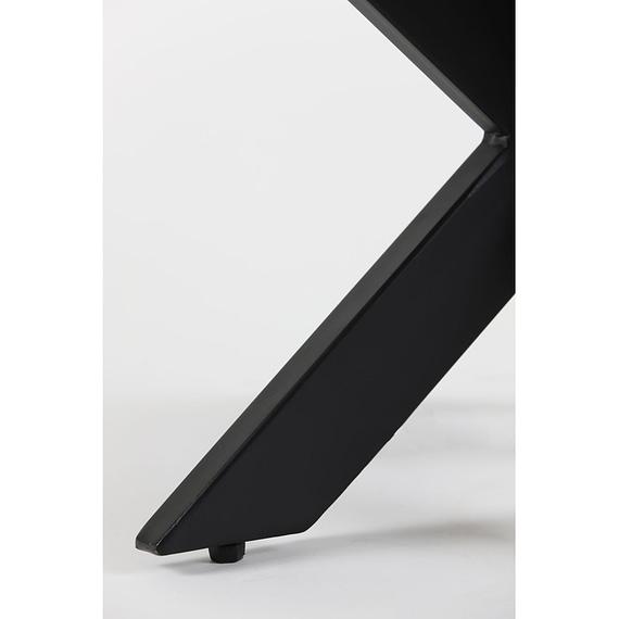 Light & Living - Ronde Salontafel Tomochi - Marmer Zwart/Zwart - Ø65x42 cm