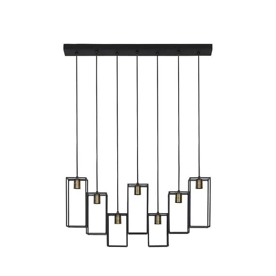 Light & Living - Hanglamp DIVERA - mat zwart - XL - 2902512