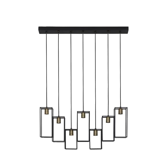 Light & Living - Hanglamp DIVERA - mat zwart - XL - 2902512