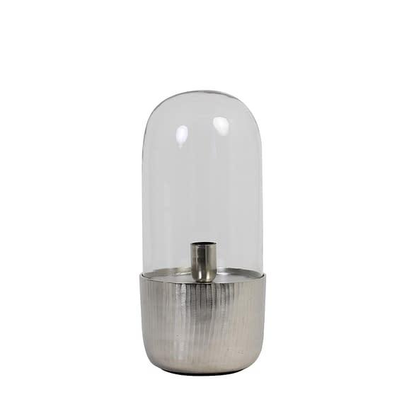Light & Living Tafellamp Kalema - Glas/Nikkel - Ø20x48 cm