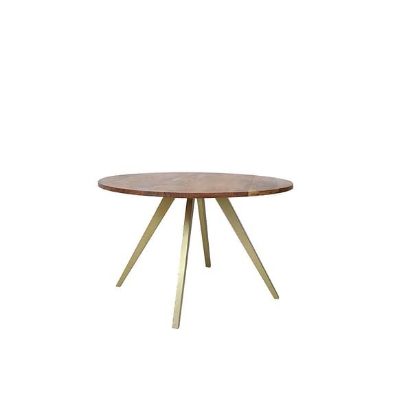 Eettafel Ø120x78 cm MIMOSO acacia hout-antiek brons