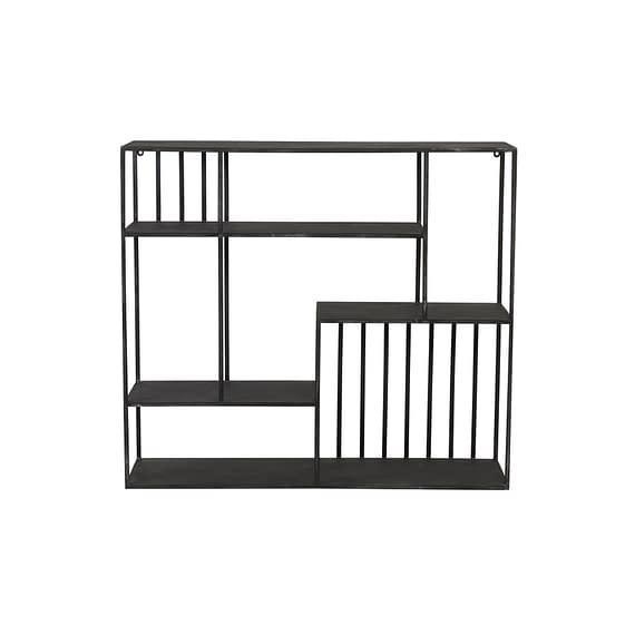 Wandkast open 90x26x80 cm YVONA zwart