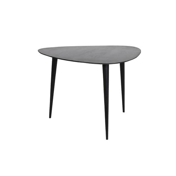 Bijzettafel 65x65x45 cm CHASEY hout mat zwart-zwart
