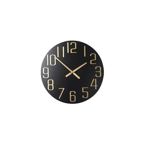 Parlane - Klok Blackheath - Zwart/Goud - Ø60 x 3 cm