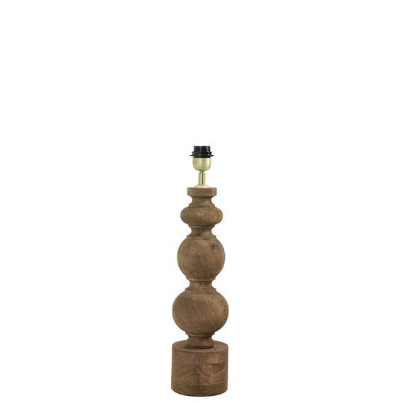 Lampvoet Radwan - Hout/Donkerbruin - 14 x 14 x 50 cm