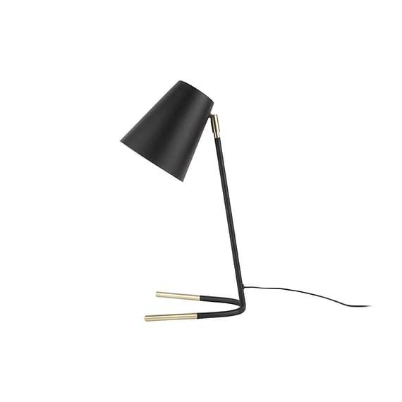 Leitmotiv - Tafellamp Noble - Metaal Zwart met goud accent - 25x15