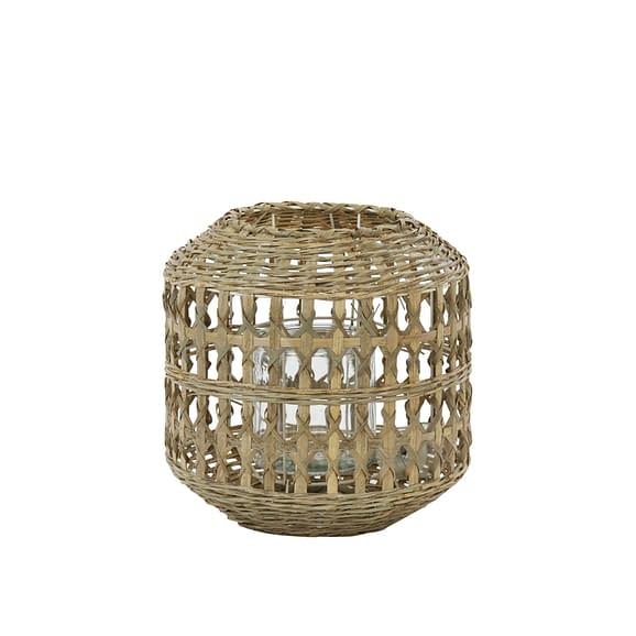 Lantaarn Bamago - Bamboe - Ø28x28 cm