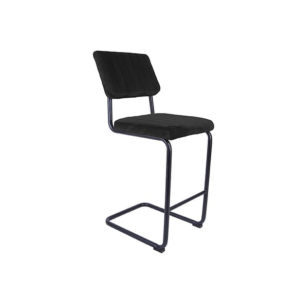 Zwart Set van 2 Barkruk Keen - Velvet Zwart - 47x56x102cm