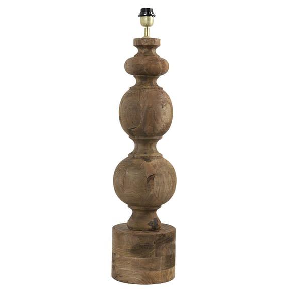 Lampvoet Radwan - Hout/Donkerbruin - 22 x 22 x 78 cm