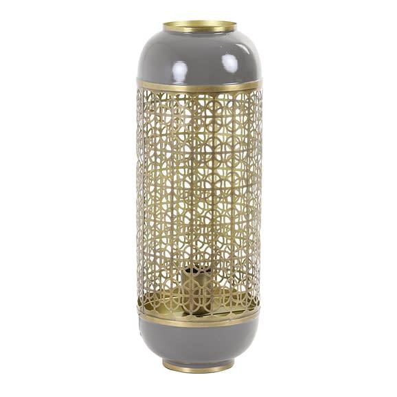 Tafellamp Rohit - Goud/Warm grijs - Ø17 x 44 cm