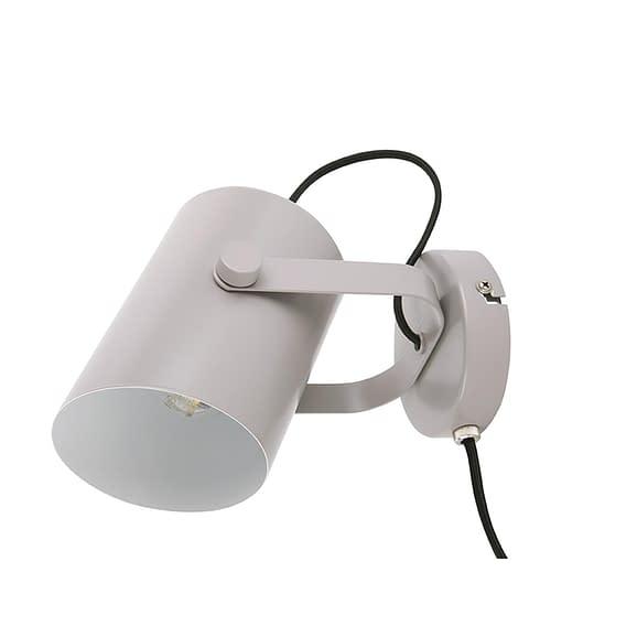 Grijs Wand lamp Snazzy - Metaal Mat Warm Grijs - 15x10x10cm