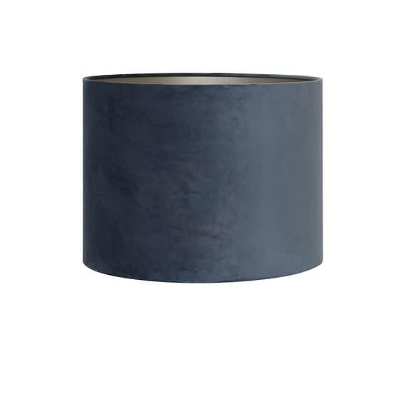 Kap cilinder 20-20-15 cm VELOURS dusty blue