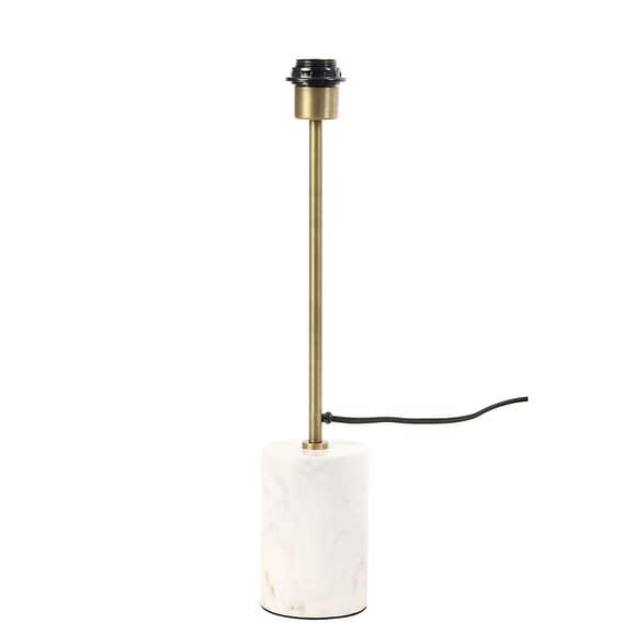 Lampvoet Marble - Wit Marmer/Antiek Brons - Ø10x51 cm