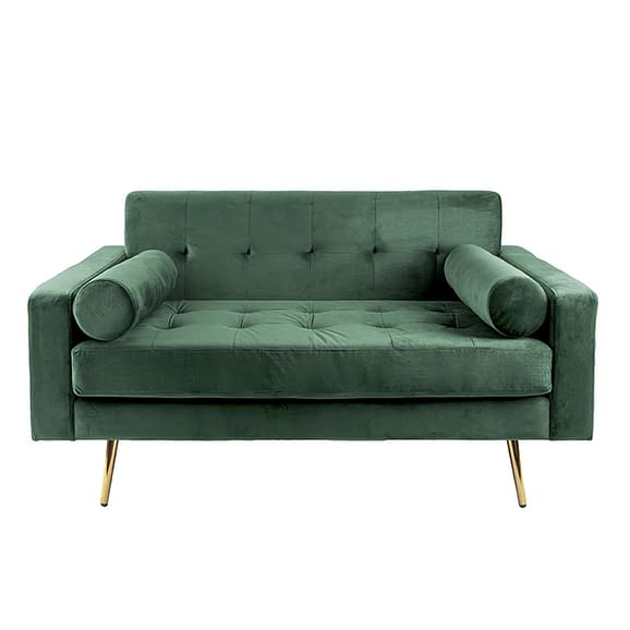 Groen Bank Embrace - Velvet Donker Groen - 142x84x76cm