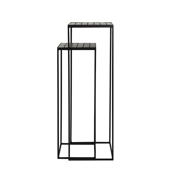 Light & Living Zuil Manjuto - Licht Bruin - S/2 38x38x120 cm