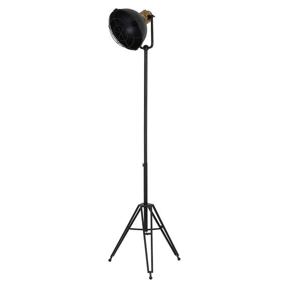 Vloerlamp YURI driepoot - Antiek-Zwart