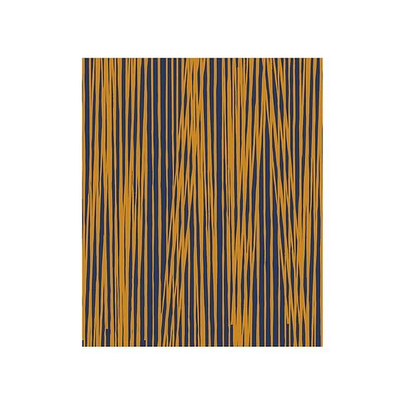 Blauw Fleecedeken Oblique Lines - Donkerblauw