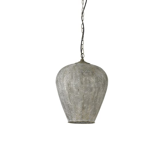 Hanglamp Lavello - Antiek Goud/Wit - Ø33