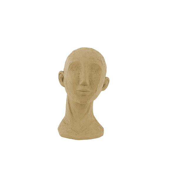 Bruin Ornament Face Art - Polyresin Zandbruin - 14