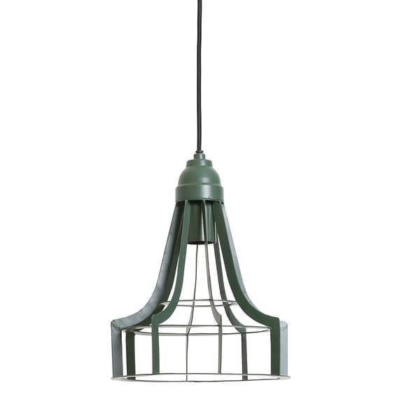 Hanglamp BECKY - mat donkergroen