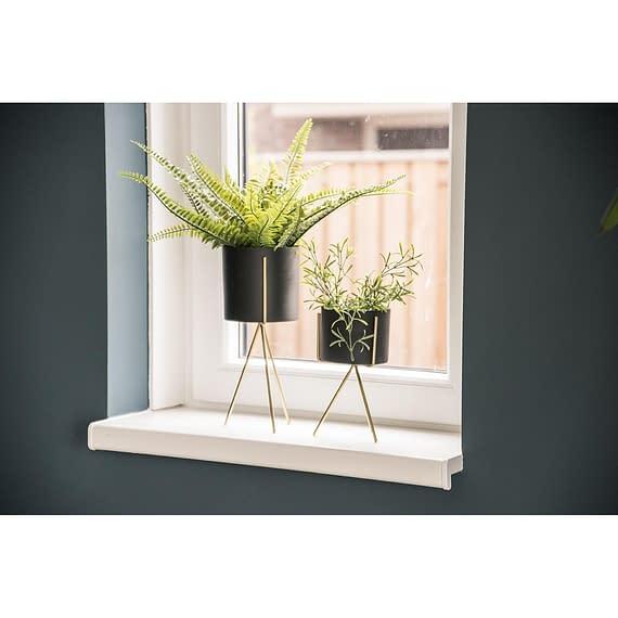 - Plant pot set Pedestal iron black