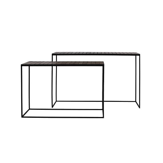 Sidetable Manjuto - Oud Roze - Set/2 - 102x27x70 + 122x27x80 cm