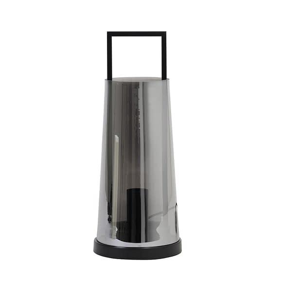 Light & Living Tafellamp Amando - Smoke/Zwart - Ø18x44 cm