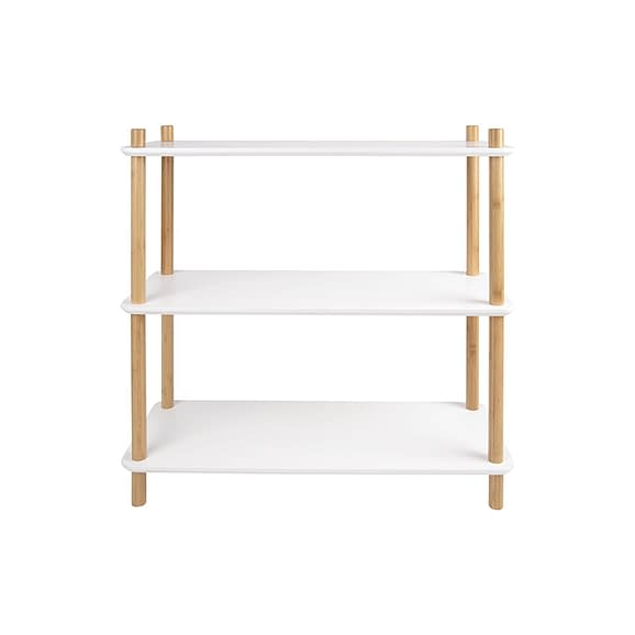 Wit Plankenkast Simplicity - Bamboe Wit - Small - 80x30x82