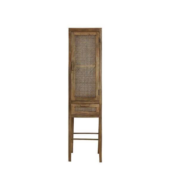 Kast met lade 45x40x180 cm NIPAS hout bruin