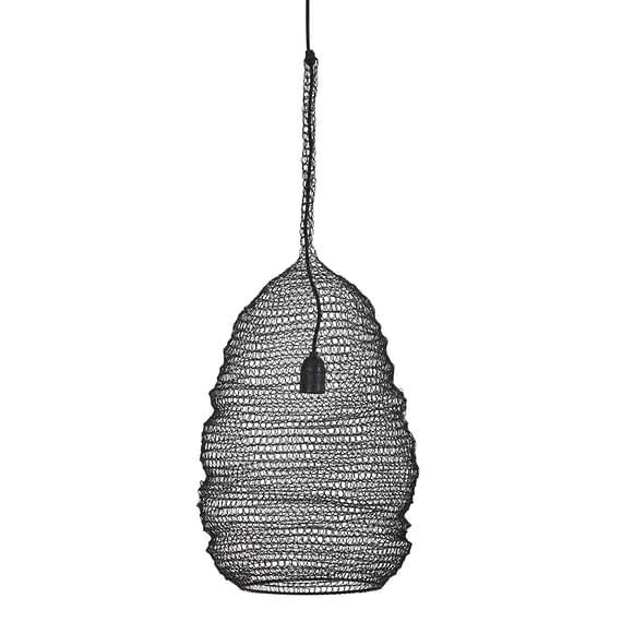 Hanglamp Ikkin - Mat Zwart - Ø31 x 50 cm