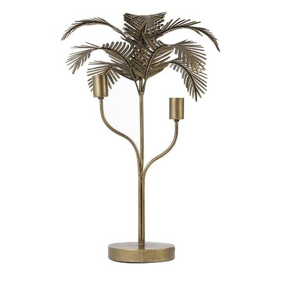 Tafellamp Palm - Antiek Brons - Ø44x68 cm
