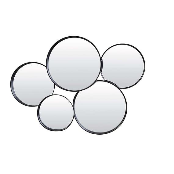 Spiegel 76x11x60 cm SIANNA mat zwart