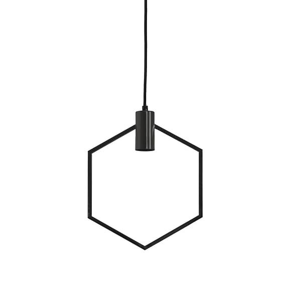 Hanglamp 30x37 cm AINA mat zwart