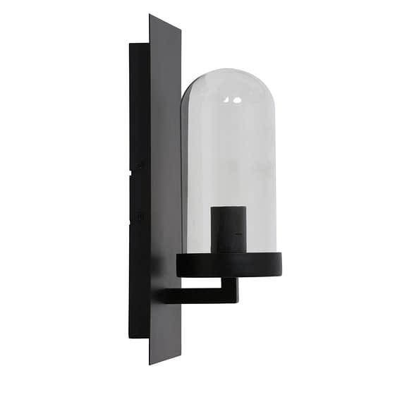 Wandlamp FENDI - zwart + glas