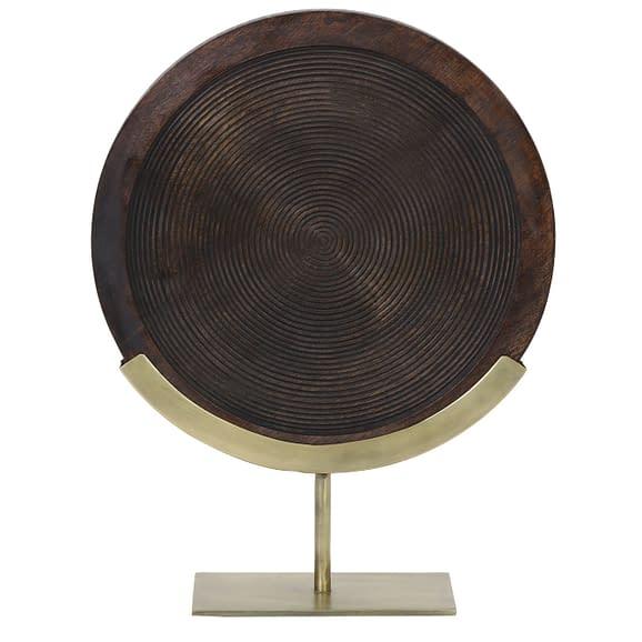 Light & Living - Ornament Kamudi - Hout/Antiek Brons - 35x47 cm