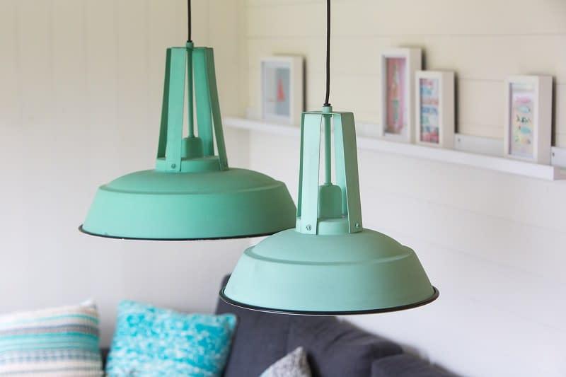 Groen-witte lamp