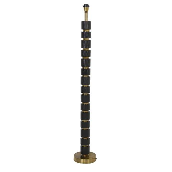 Vloerlamp Azoyu - Mat Zwart/Antiek Brons - Ø20 x 130 cm